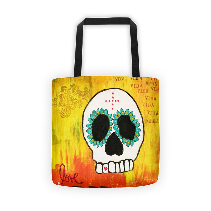 Sugar Skull, Tote bag, Sugar Skull Tote, Love Tote
