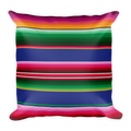 Mexican Serape Pattern Square Pillow