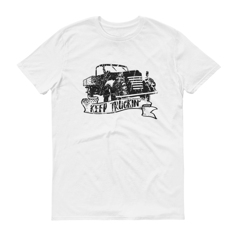 Keep Truckin' Black Graphic Short Sleeve T-Shirt