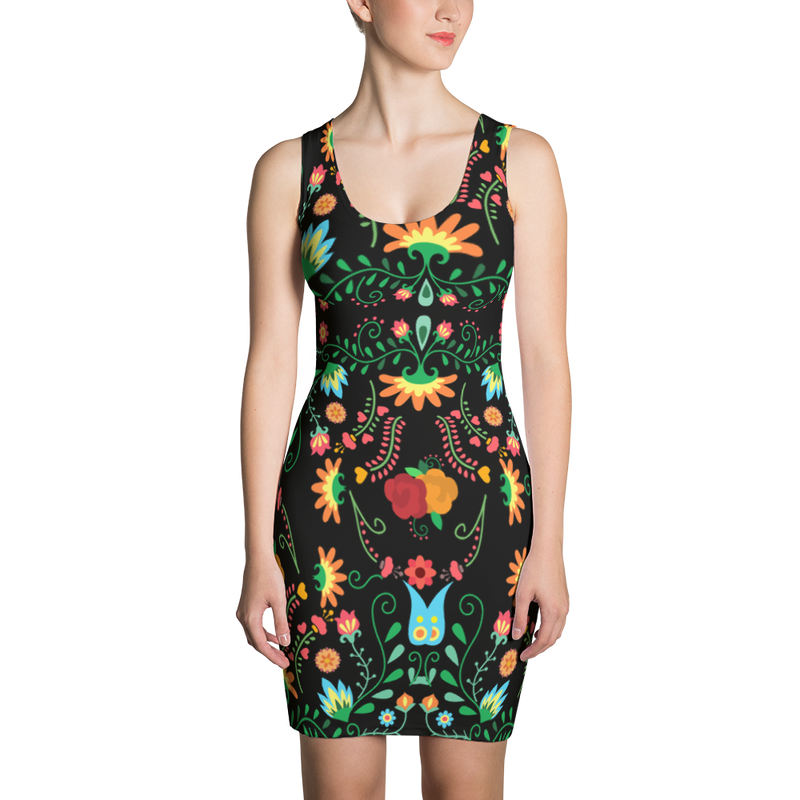 Mexican Flower Dress