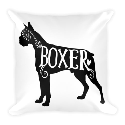 Boxer Dog Pillow, Dog Throw Pillow, Decorative, Pillow