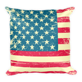 American Flag Square Pillow