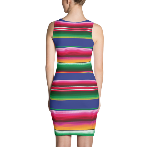 Mexican Serape Pattern Dress