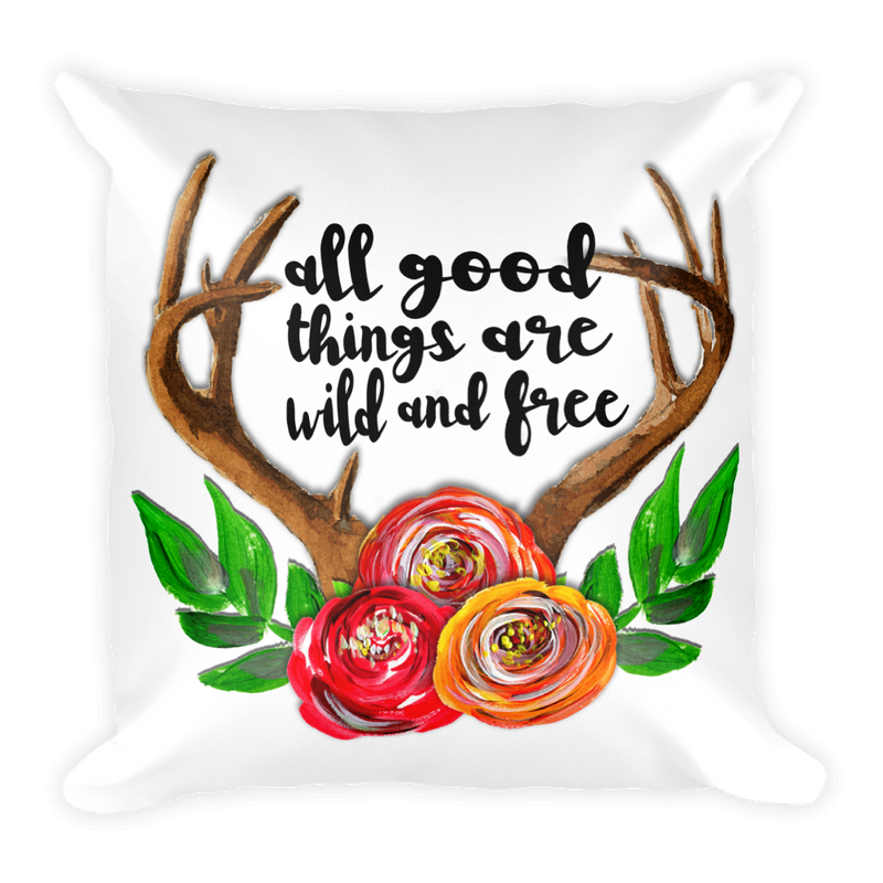 Antlers Square Pillow