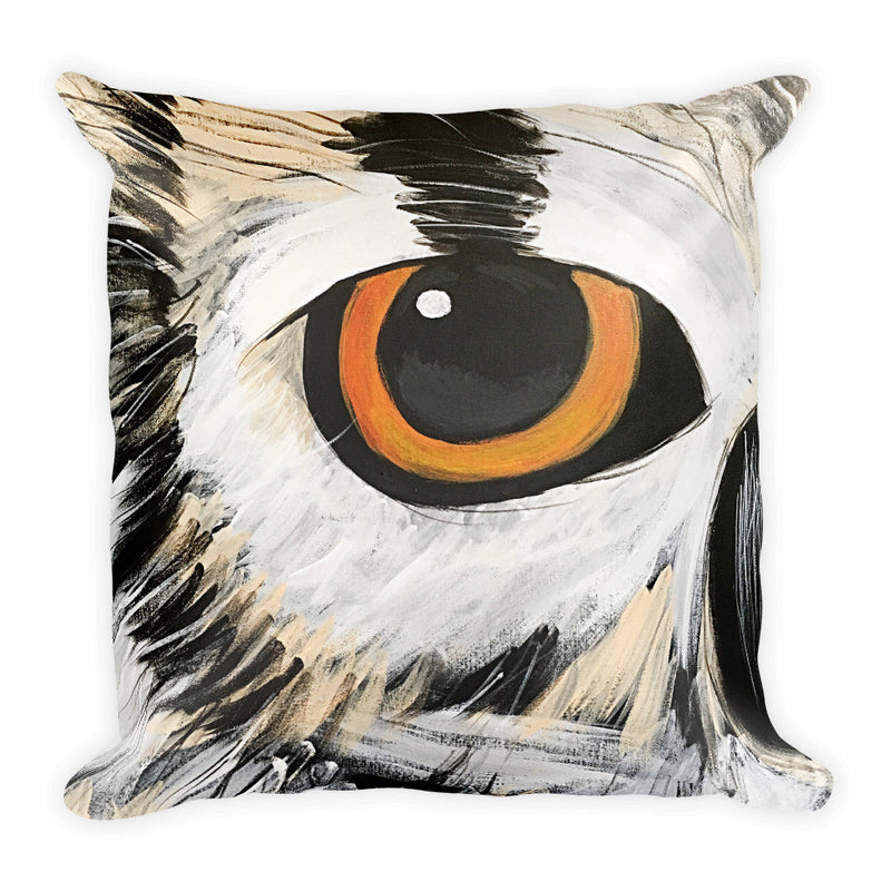 Owl Eye Square Pillow