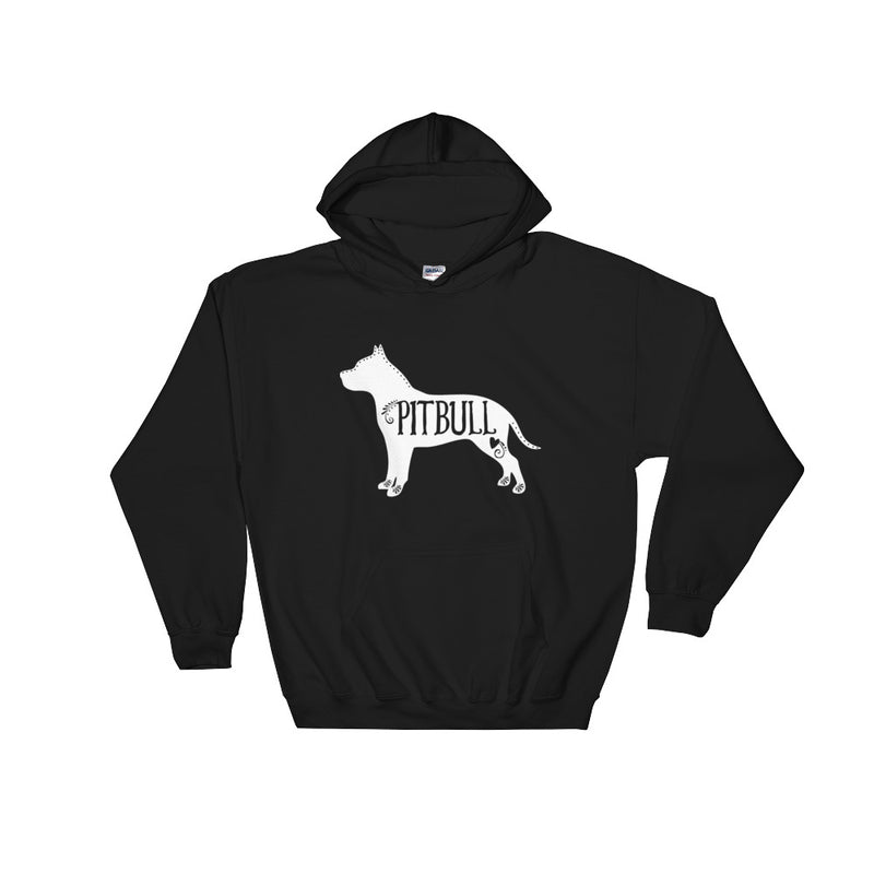 Pitbull Hooded Sweatshirt (White Design)