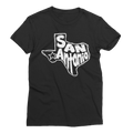 San Antonio White Graphic Women's Short Sleeve T-Shirt