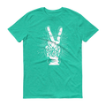 Good Vibes White Graphic Short Sleeve T-Shirt