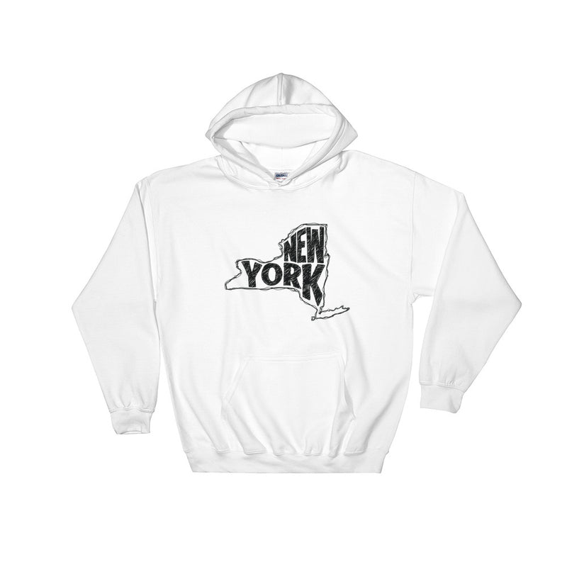 New York Hooded Sweatshirt (Black Text)