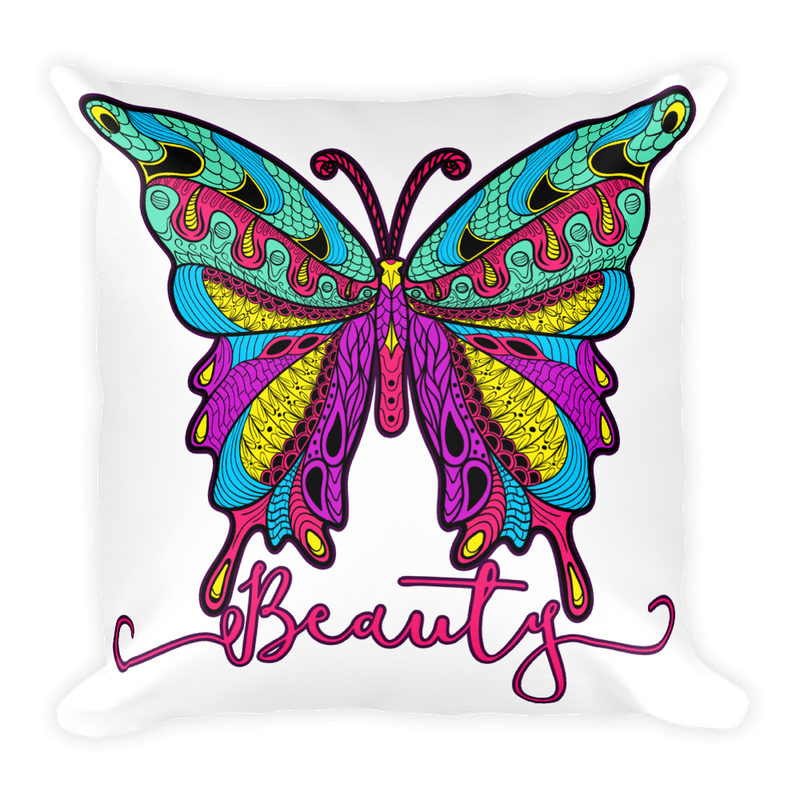 Butterfly Beauty Square Pillow