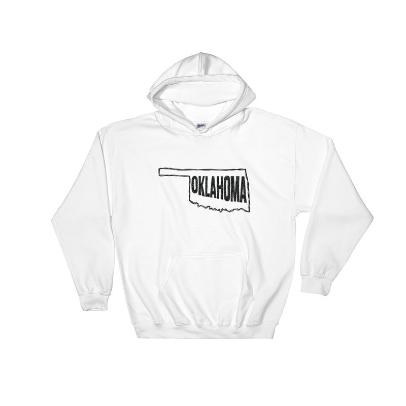 Oklahoma Hooded Sweatshirt (Black Text)