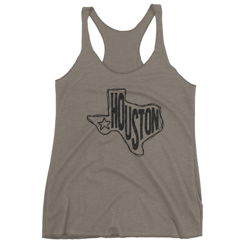 Houston, Texas Women's Tank Top (Black Graphic)