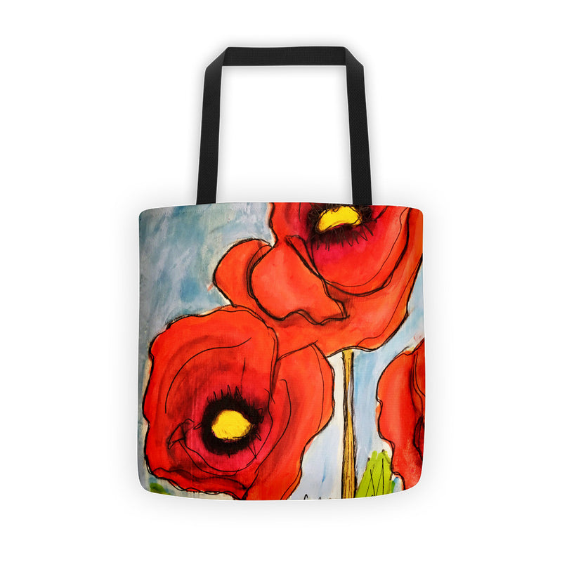 Artsy Poppy Tote Bag