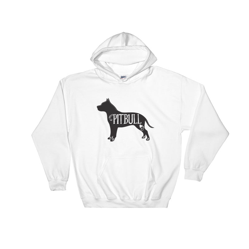 Pitbull Hooded Sweatshirt (Black Design)