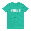 Vintage White Graphic Short Sleeve T-Shirt