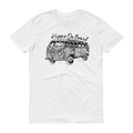 Hippie On Board Black Graphic Short Sleeve T-Shirt