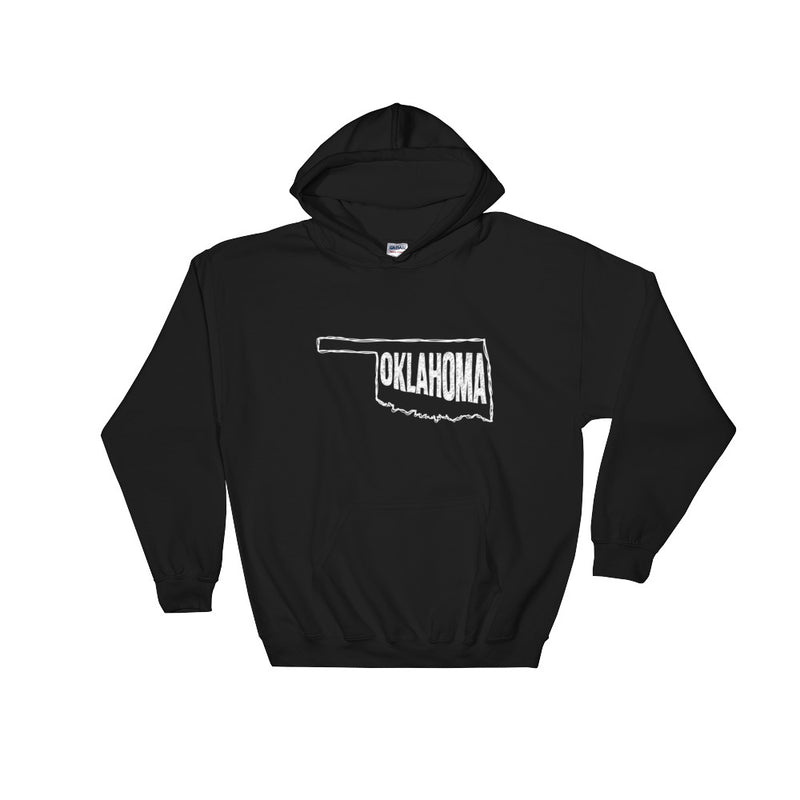 Oklahoma Hooded Sweatshirt (White Text)