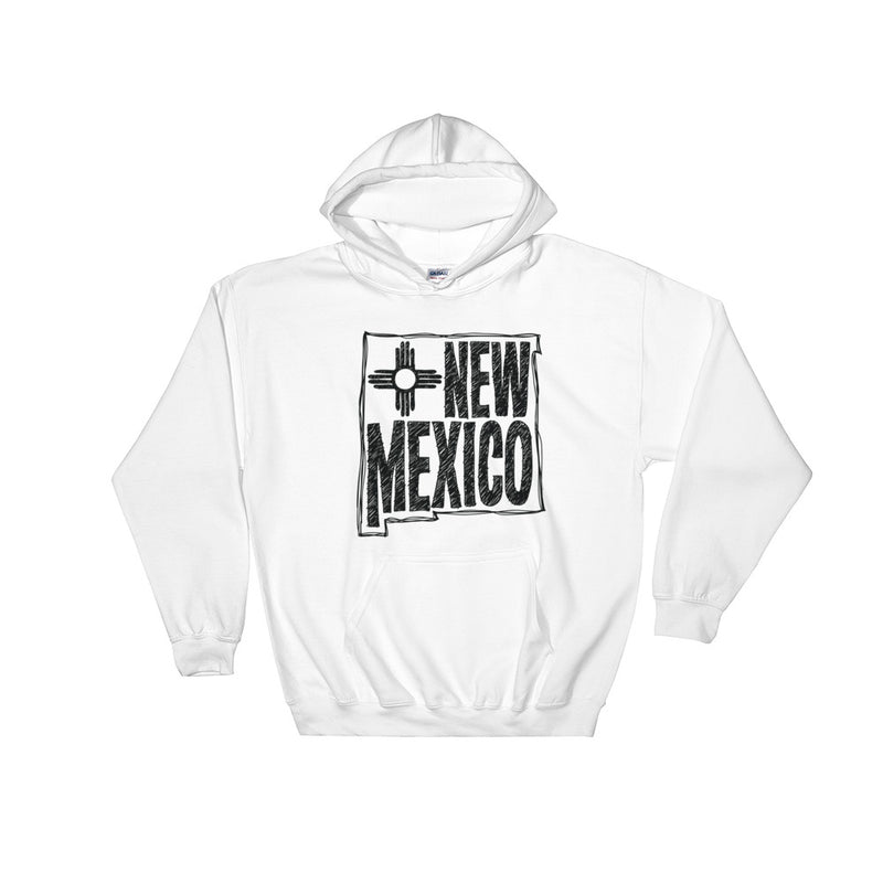 New Mexico Hooded Sweatshirt (Black Text)