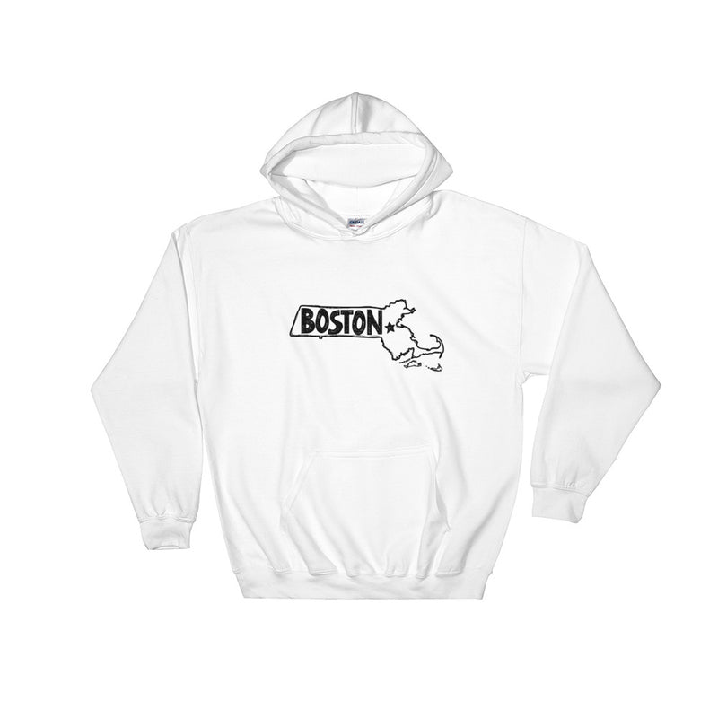 Boston Hooded Sweatshirt (Black Text)