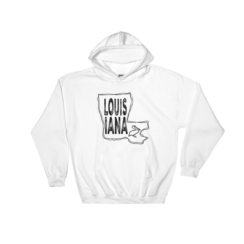 Louisiana Hooded Sweatshirt (Black Text)