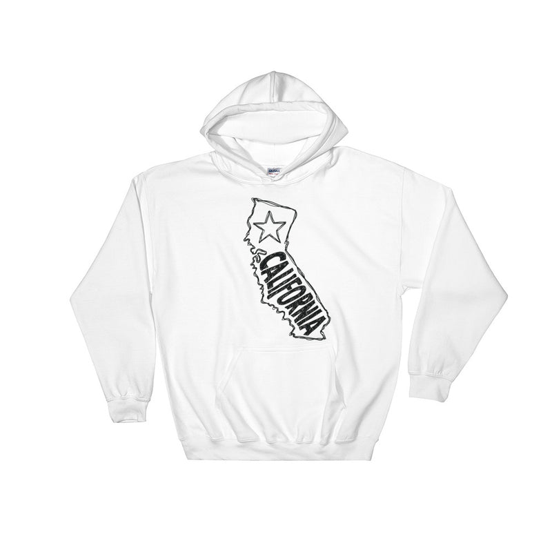 California Hooded Sweatshirt (Black Text)
