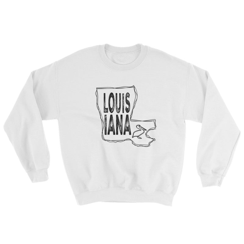Louisiana Sweatshirt (Black Text)