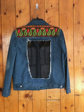 Load image into Gallery viewer, Tapestry boho denim jacket