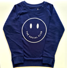 Load image into Gallery viewer, KIDS NAVY & SILVER TSC SMILEY UNISEX SWEATSHIRT
