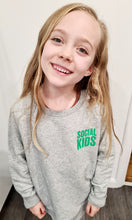 Load image into Gallery viewer, KIDS SOCIAL GREY & GREEN SWEATSHIRT