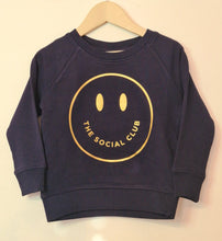 Load image into Gallery viewer, KIDS NAVY & GOLD SWEATSHIRT