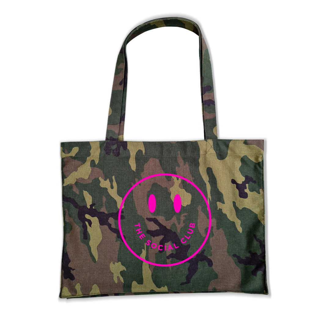 NEON PINK SMILEY SHOPPER