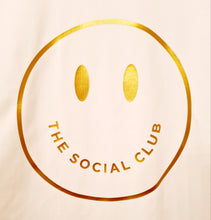 Load image into Gallery viewer, ADULT WHITE TSC 'GOLD' SMILEY TSHIRT