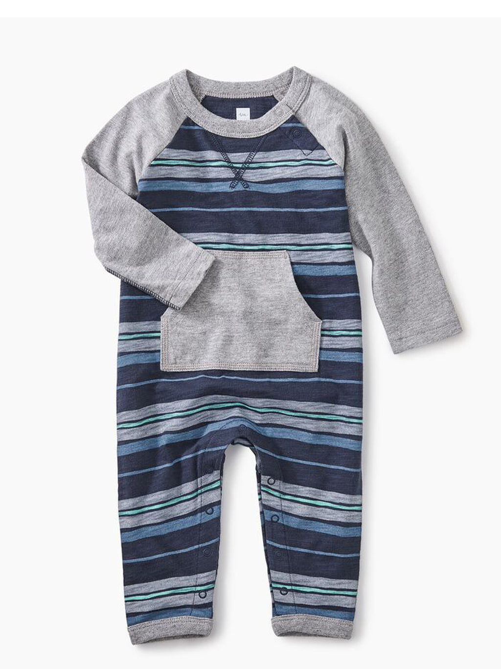 Baby Boy Striped Romper with Pocket