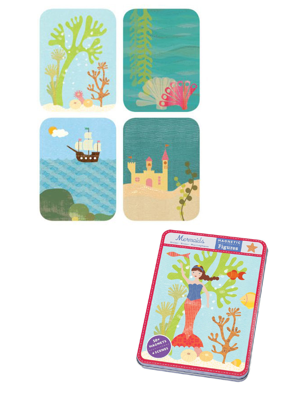 Mermaids Magnetic Figures Set