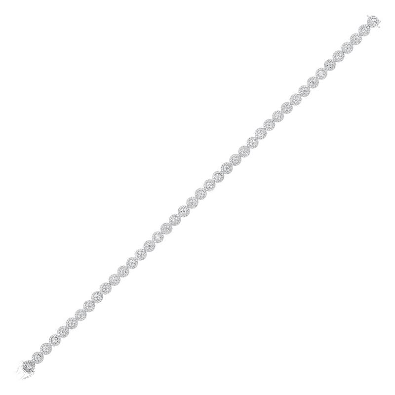 Tru Reflections Prong Diamond Bracelet in 14K White Gold (3 ct. tw.)