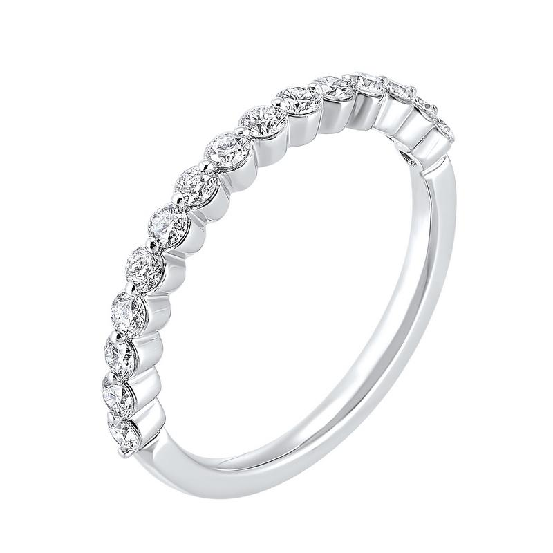 Prong Set Diamond Band 14K White Gold (1/4 ct. tw.)