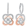 Love's Crossing Diamond Earrings in 14K Two-Tone Gold (3/4 ct. tw)