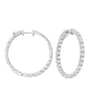 In-Out Prong Set Diamond Hoop Earrings in 14K White Gold  (5 ct. tw.)
