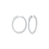 Delicate In-Out Diamond Hoop Earrings in 14K White Gold  (1 1/2 ct. tw.)