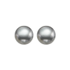 Grey Freshwater Pearl Stud Earrings in Sterling Silver (5.5MM)