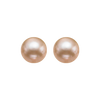Gold Freshwater Pearl Stud Earrings in Sterling Silver (6MM)