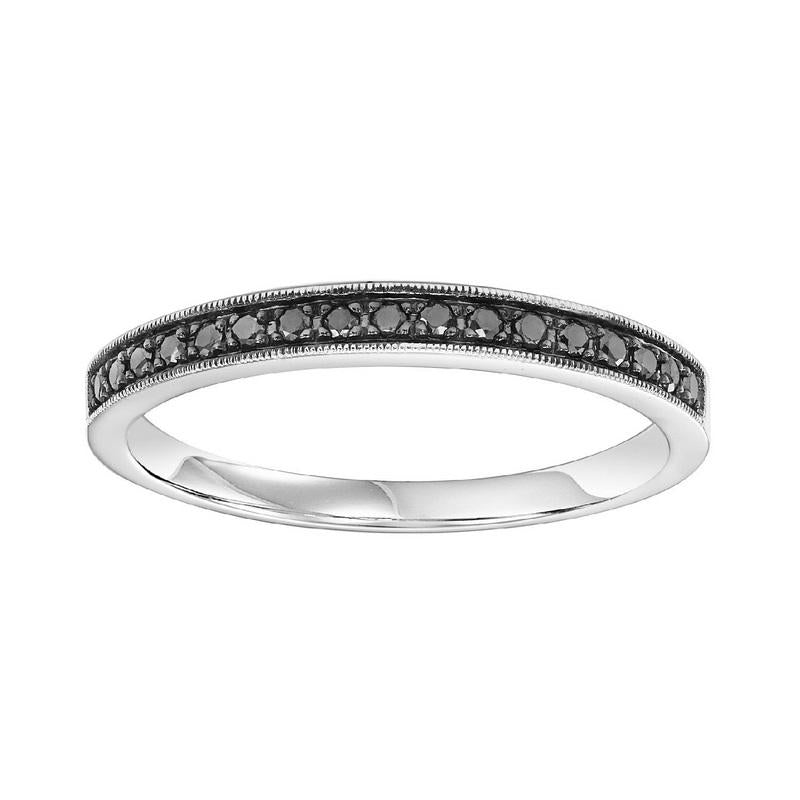14K White Gold Stackable Prong Colored Diamond Band (1/8 ct. tw.)