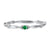 10K White Gold Stackable Prong Emerald Band