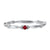 10K White Gold Stackable Prong Garnet Band