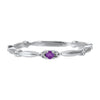 10K White Gold Stackable Prong Amethyst Band