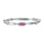 10K White Gold Stackable Prong Pink Tourmaline Band