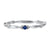 10K White Gold Stackable Prong Sapphire Band