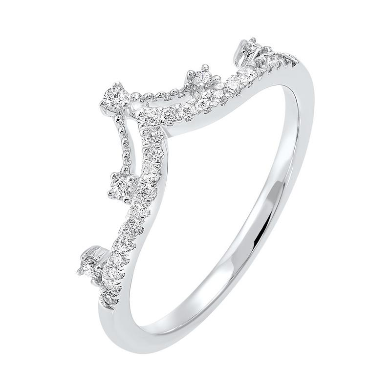 10K White Gold Stackable Prong Diamond Band (1/5 ct. tw.)
