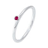 Ruby Birthstone Ring in 10K White Gold