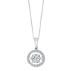14K White Gold Rhythm of Love Halo Prong Diamond Pendant (1 ct. tw.)